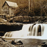 Glade Creek Grist Mill Art Print