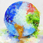 Globe Painting Art Print