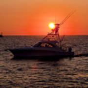 Going Fishing - Silhouette Art Print