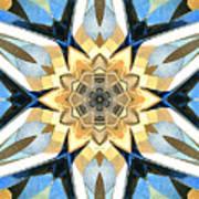 Golden Flower Abstract Art Print
