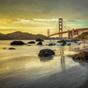 Golden Gate Sunset Art Print