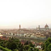 Golden Sunset Of Florence, Italy. Art Print
