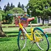 Google Bike Parked Near Googleplex Facility Park Art Print