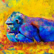 Gorilla Gorilla Art Print by Betty LaRue