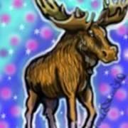 Graffiti Moose Art Print