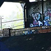 Graffiti Under The Bridge Art Print