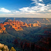 Grand Canyon National Park - Sunset On North Rim Art Print