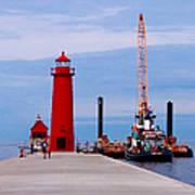 Grand Haven Lighthouse Pier Art Print