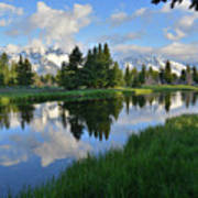 Grand Teton Reflection Art Print