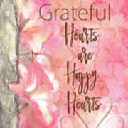 Grateful Hearts Art Print