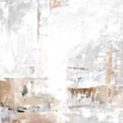 Gray Brown Abstract 12m3 Art Print
