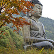Great Buddha In Autumn Art Print