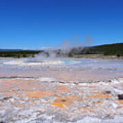 Great Fountain Geyser In Yellowstone National Park Art Print