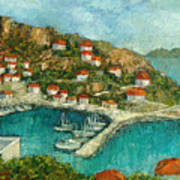 Greek Island Art Print