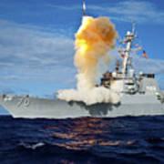 Guided Missile Destroyer Uss Hopper Art Print
