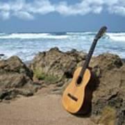Guitar Seascape Art Print