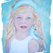 Gwyneth Little Earth Angel Of Happiness Art Print by The Art With A Heart By Charlotte Phillips