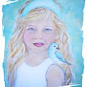 Gwyneth Little Earth Angel Of Happiness Art Print