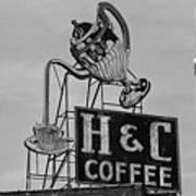 H C Coffee Art Print
