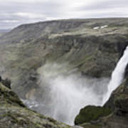Haifoss Waterfall Iceland 1340 Art Print