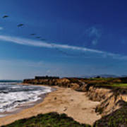 Half Moon Bay Golf Course - California Art Print