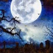 Halloween Horror Night Art Print