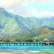 Hanalei Pier Art Print