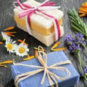 Handmade Soaps With Herbs Art Print