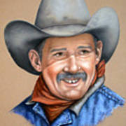 Happy Cowboy Art Print