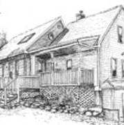 Harvey Lake House Art Print