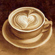 Heart Latte II Art Print