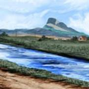 Heart Mountain And The Canal Art Print