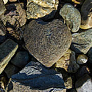 Heart Shaped Stone Loch Fyne  Art Print