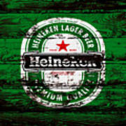 Heineken Beer Wood Sign 1e Art Print