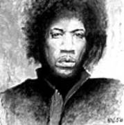 Hendrix Portrait Art Print