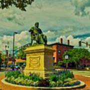 Henry Wadsworth Longfellow Monument - Portland, Maine Art Print