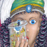 Her Jarflies Art Print