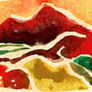 High Mountain Meadows Art Print by Annie Alexander