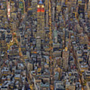 High Over Manhattan Art Print