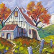 Hillsidebarn Art Print