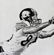 Hines Ward Diving Catch  Art Print