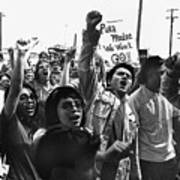Hispanic Anti-viet Nam War Rally Tucson Arizona 1971 Art Print