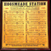 Hogsmeade Station Timetable Art Print