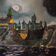 Hogwart's Castle Art Print by Tim Loughner