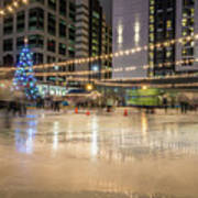 Holiday Scenes In Uptown Charlotte North Carolina Art Print