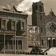 Holy Angel's Catholic Church Rectory  Belles Indian Saloon   The Great White Hope Set Globe Az 1969 Art Print