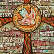 photograph about Come Holy Spirit Prayer Printable known as Holy Spirit Prayer Via St. Augustine Artwork Print