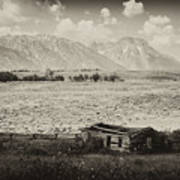 Homestead In The Grand Tetons Art Print