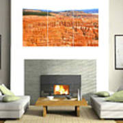 Hoodoos Of Bryce Canyon Art Print