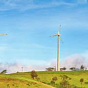 Horizontal Axis Wind Turbines. Panorama Art Print